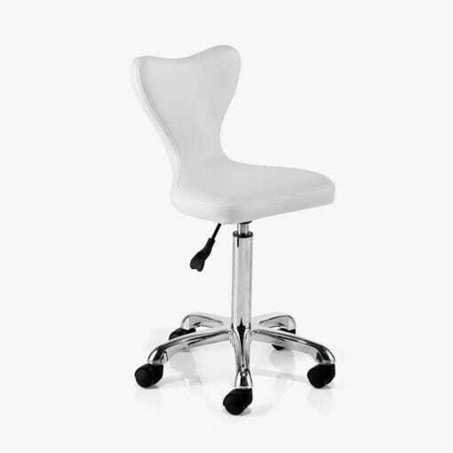 REM Clover White Stool - EXPRESS DELIVERY