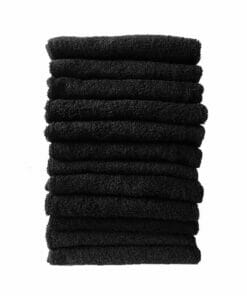 HT Gaddam Black Salon Towels Pack 12