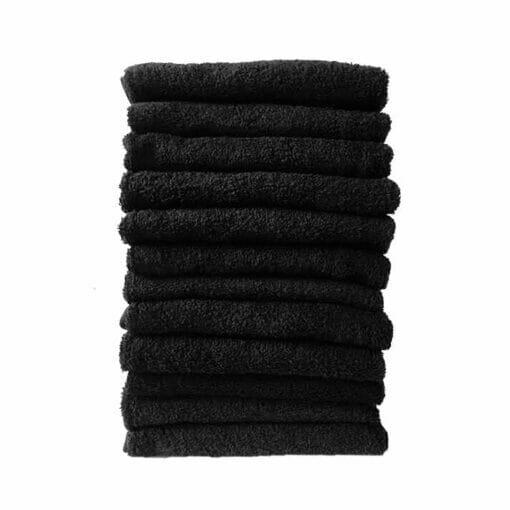 HT Gaddam Black Salon Towels Pack 12
