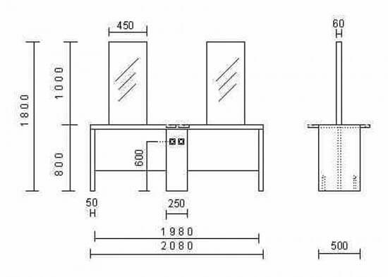 Nelson Mobilier Krystal 4P Island Styling Unit