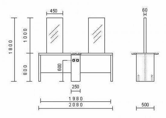 Nelson Mobilier Krystalik 4P Island Styling Unit