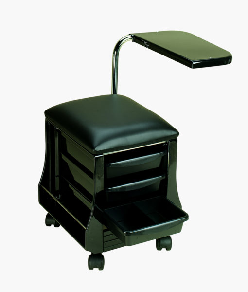 Manicure table seat in black direct salon furniture for Fold up nail table