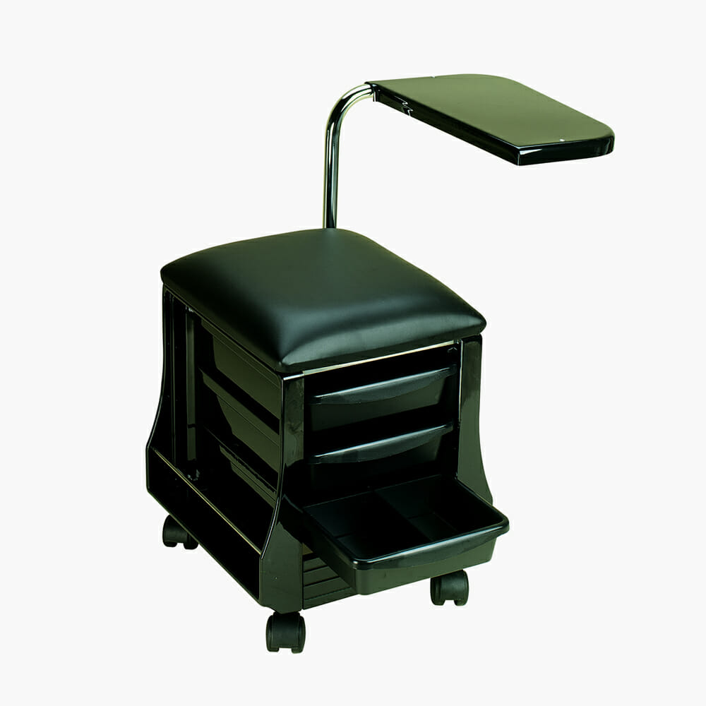 Manicure table seat in black direct salon furniture for Nail table and chairs