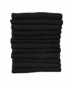 Majestic Black Bleach Resistant Towels Pack 12
