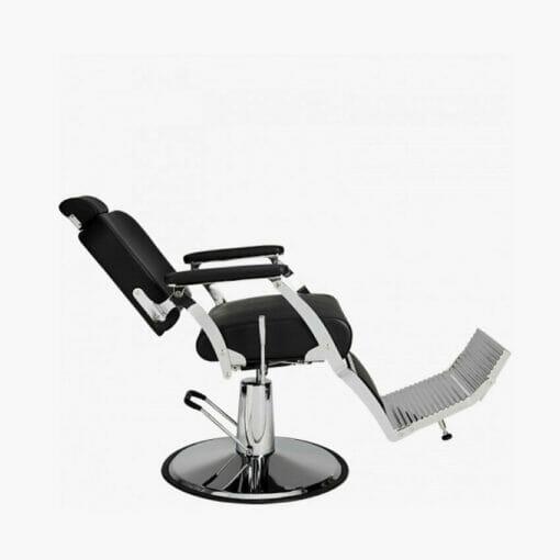 Mila Silver Standard Black Barbers Chair