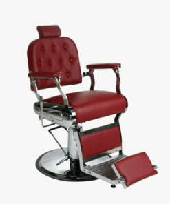 Salon Fit Empire Red Barbers Chair