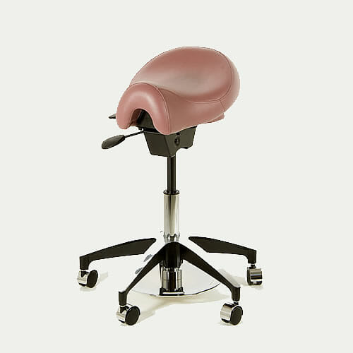 WBX Ascot Stool with Dual Foot Disc Height Control