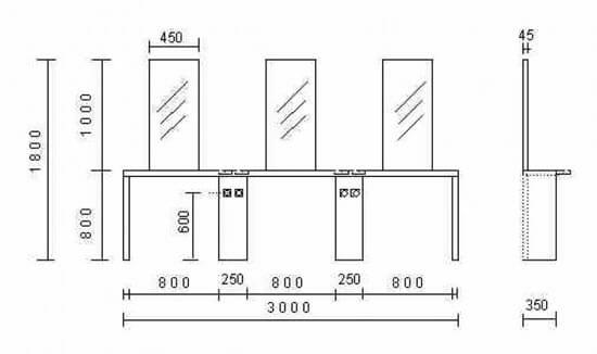 Nelson Mobilier Krystal Wall Styling Unit