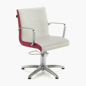 REM Ariel Hydraulic Styling Chair in Coloured Upholstery