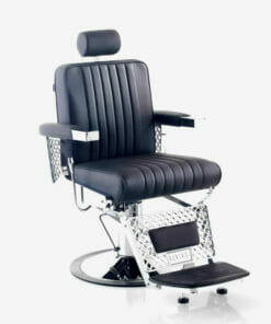 Rem Viscount Black Barbers Chair