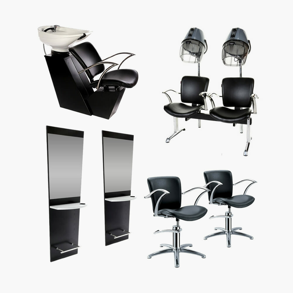 Crewe orlando bermuda salon package direct salon furniture for Furniture packages uk
