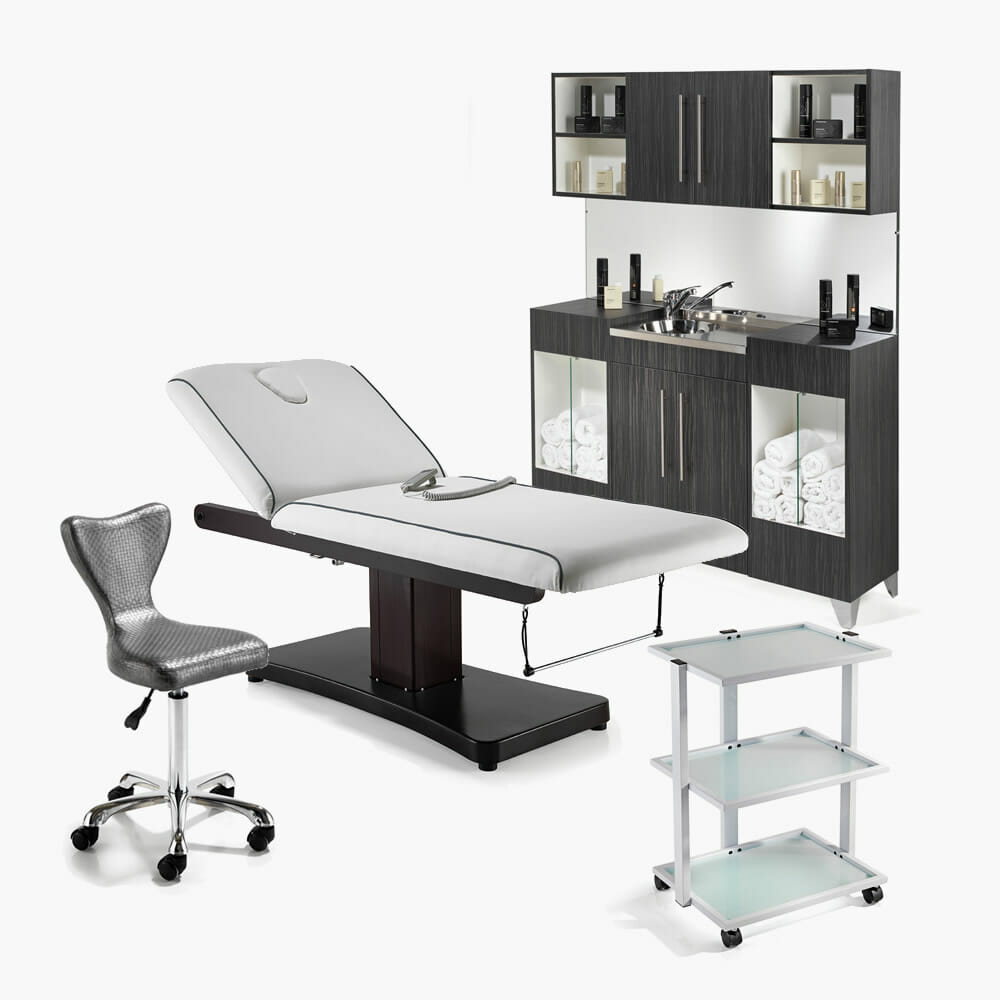 Rem beauty spa package b direct salon furniture for Beautician furniture