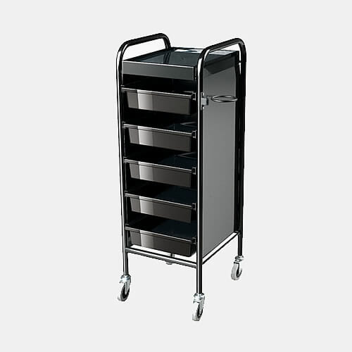 Columbia black salon trolley direct salon furniture for Salon trolley