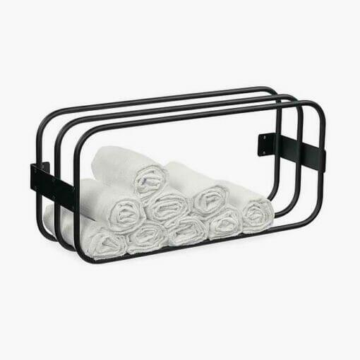 Sibel Wall Mounted Storage Towel Rack