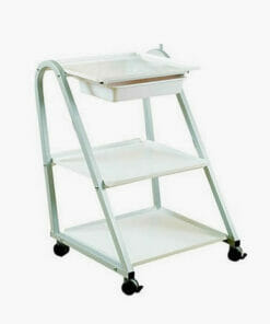 skinmate white equipment trolley