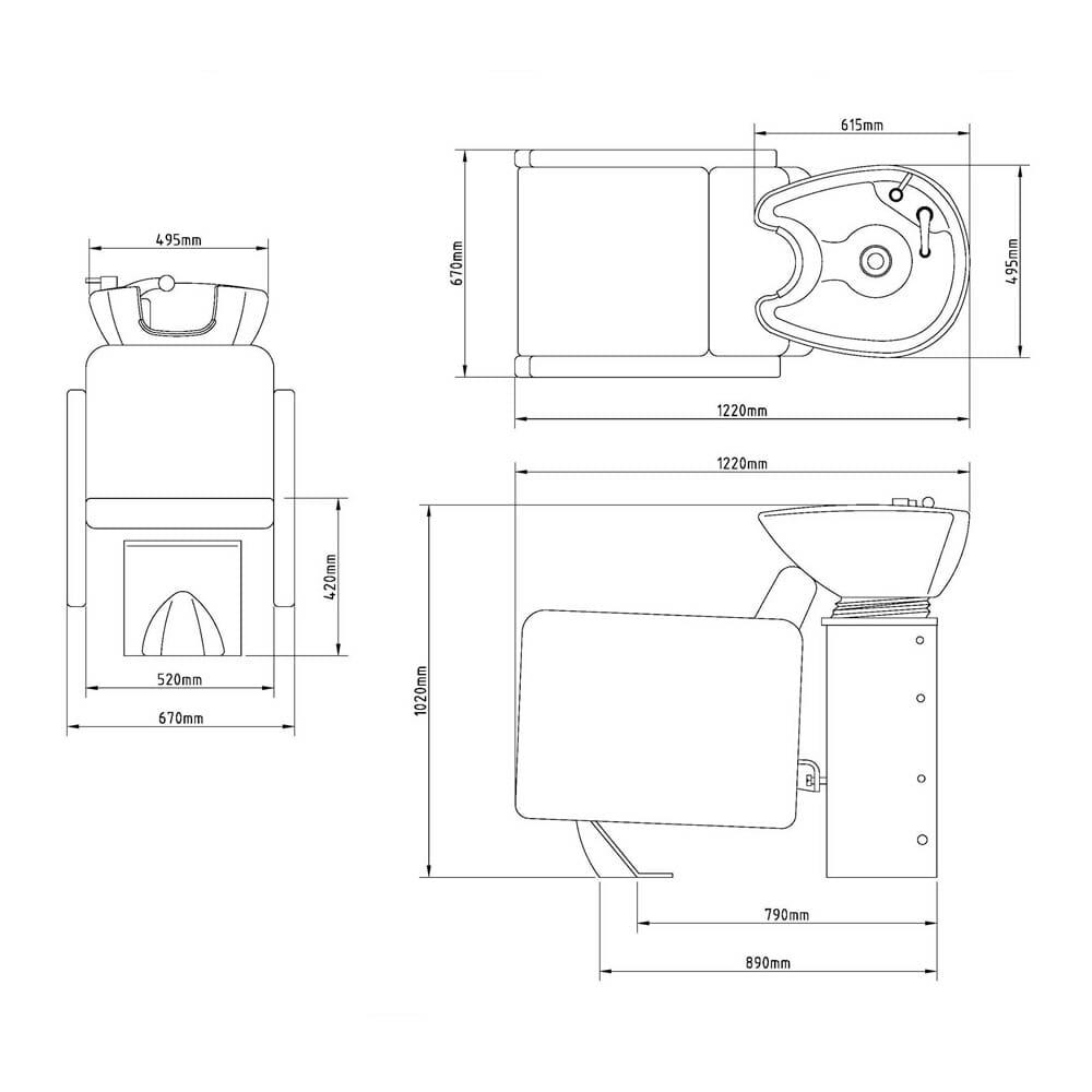 Wbx 2000 boxta washpoint complete direct salon furniture for Salon complet but