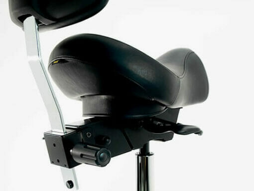 WBX Ascot Saddle Stool With Backrest